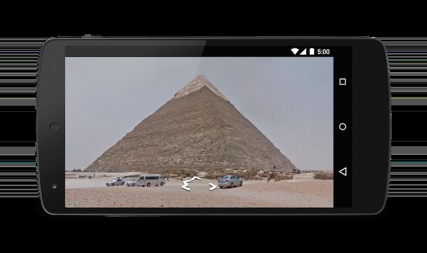 街景中的金字塔