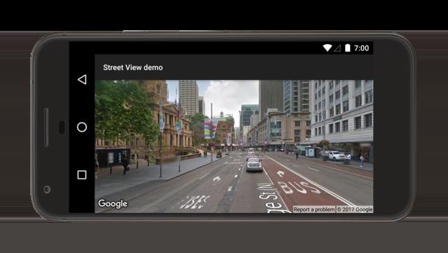 Demostración de panorámica de StreetView