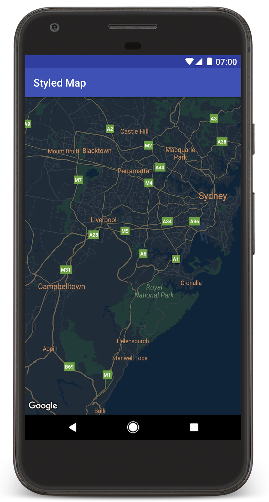 Adding a Styled Map Google Maps Android API Google Developers
