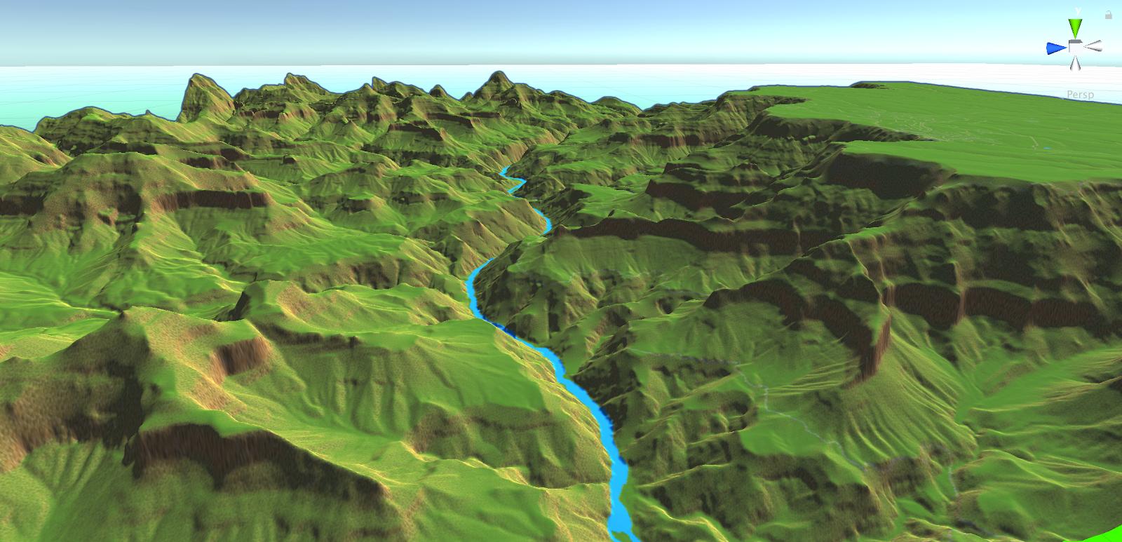 グランドキャニオンの地形標高の画像