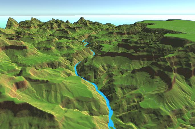 Using terrain elevation - Unity