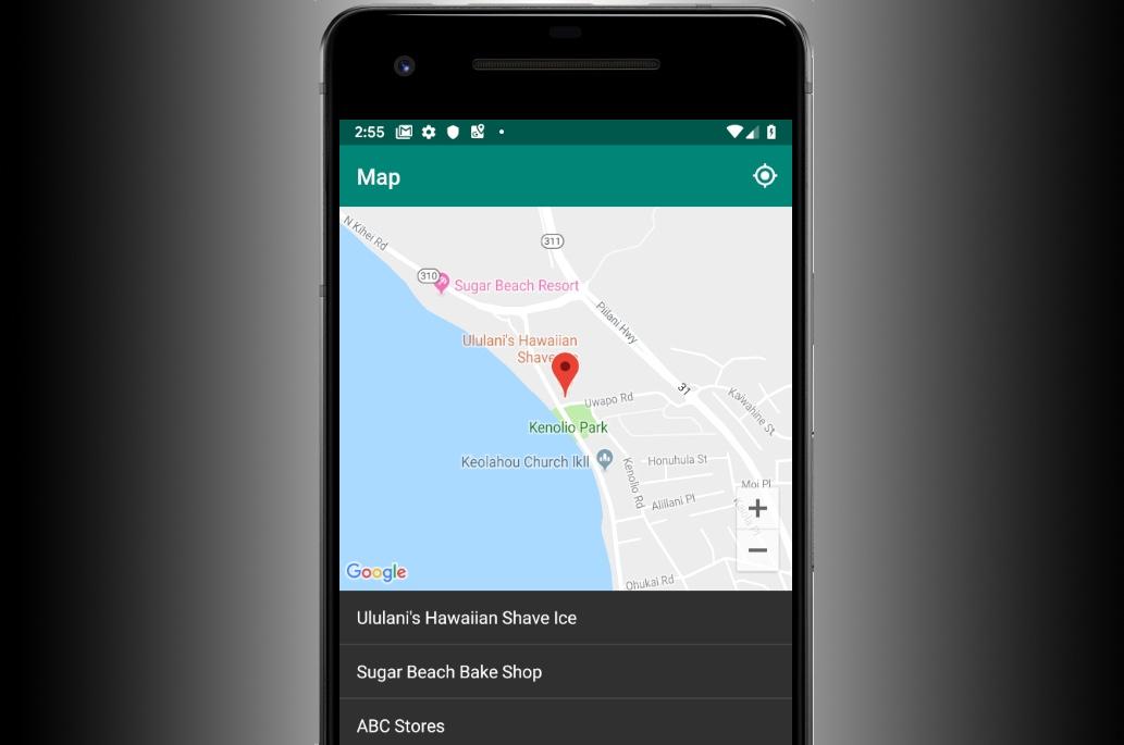Практическая работа по созданию инструмента выбора текущего места– Android