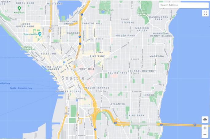 Mapa vetorial para JavaScript