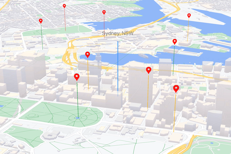 Bild: WebGL-gestützte Kartenfunktionen– JavaScript