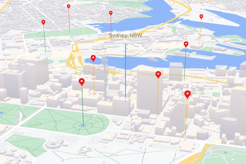 WebGL-powered map features - JavaScript