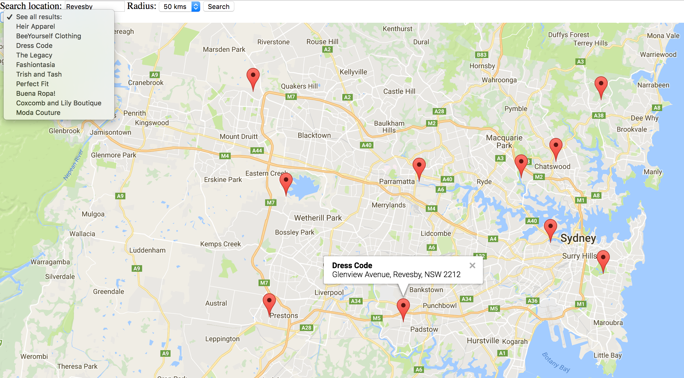 Radius On Map Creating a Store Locator on Google Maps | Store Locator Solution