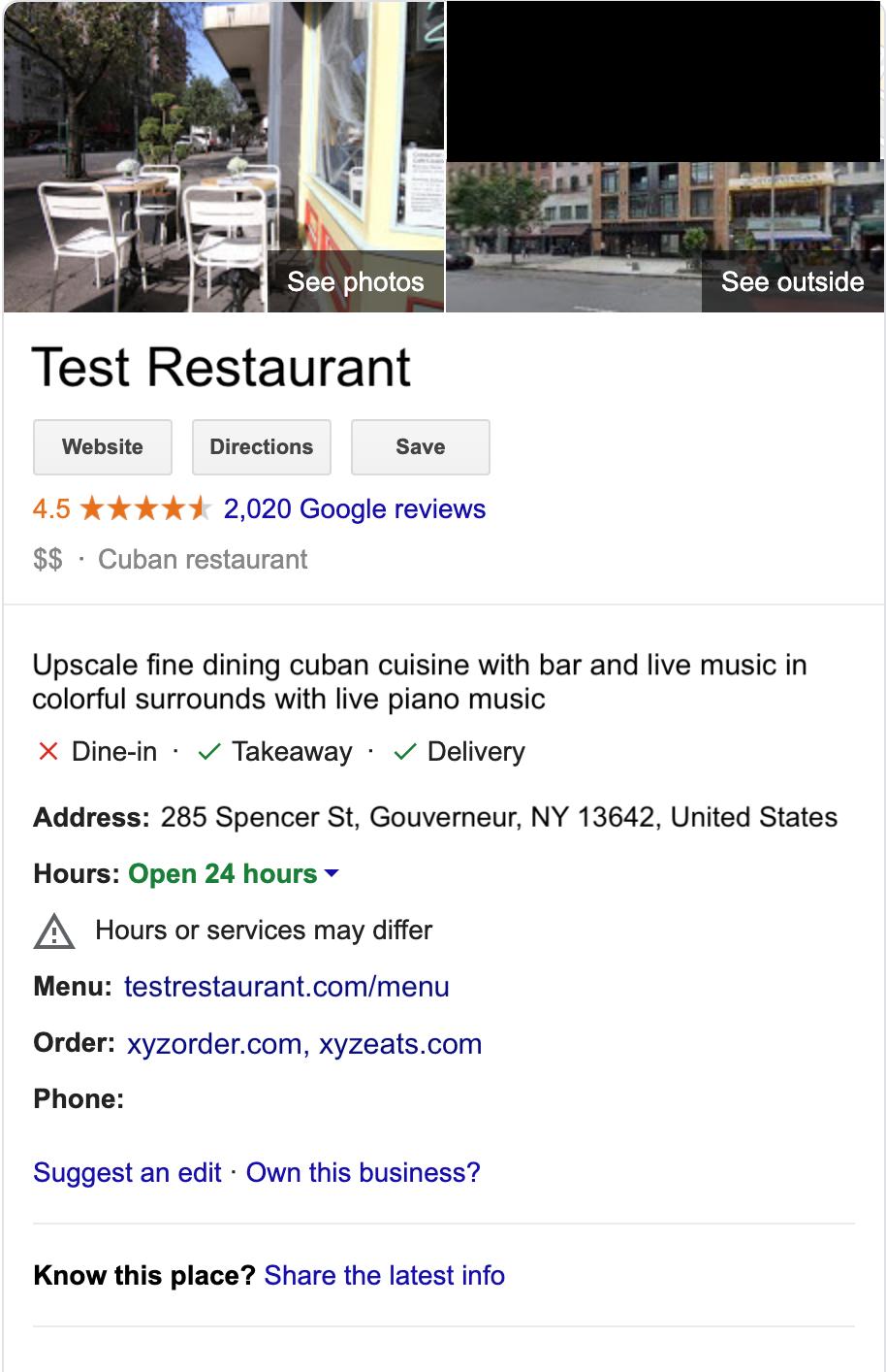 Enlace para que los usuarios lleven a cabo acciones en un sitio de prueba