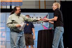 Chris DiBona presenting an Open Source Award