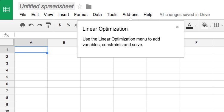 Linear Optimization Add-on for Google Sheets | OR-Tools