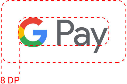 Google Pay logo clear space example