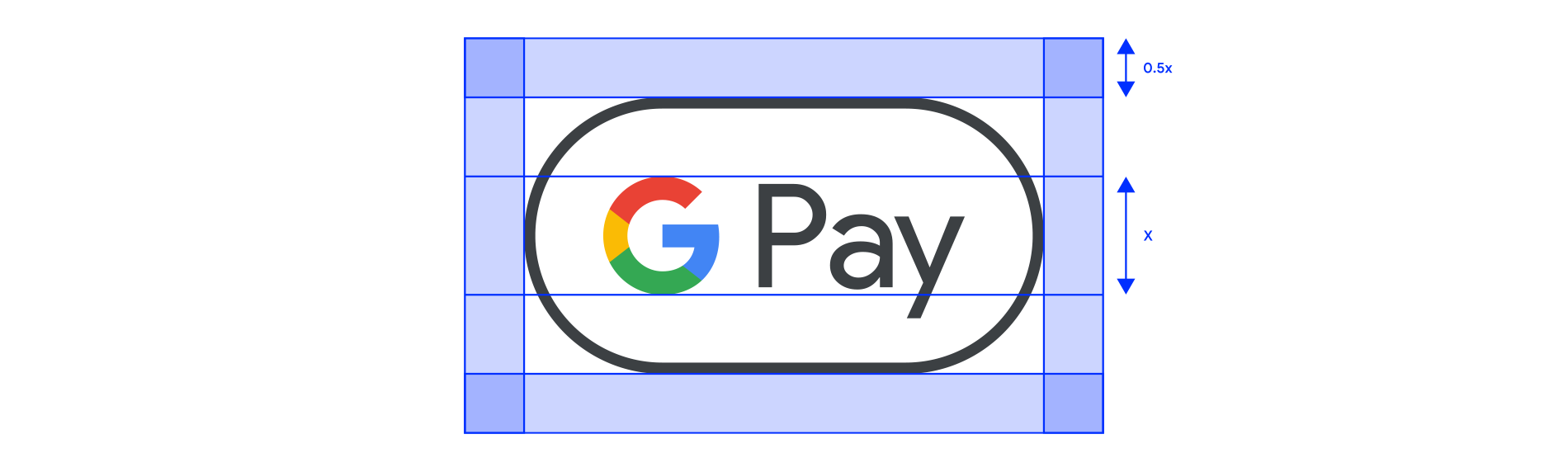 Google Pay mark clear space example