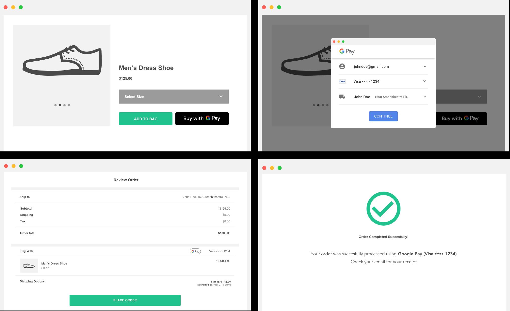 Experiência de compra na Web