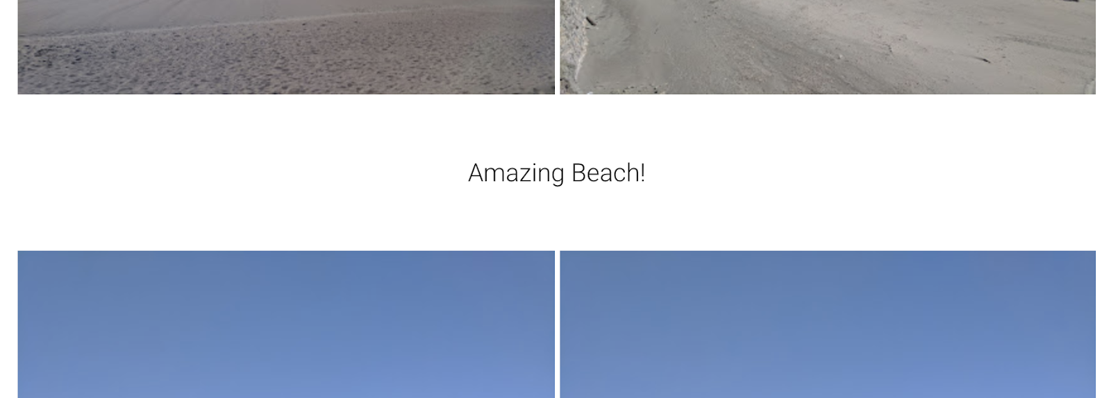 Screenshot of a text enrichment shown in Google Photos
