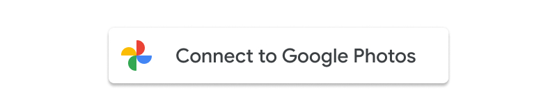 Screenshot of the acceptable usage of the Connect to Google Photos button