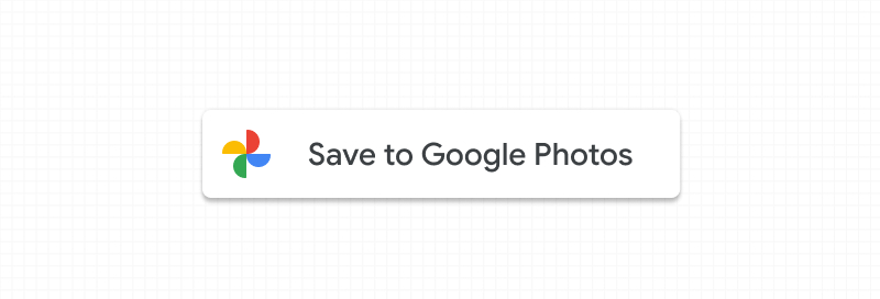 Screenshot of standard Google Photos button