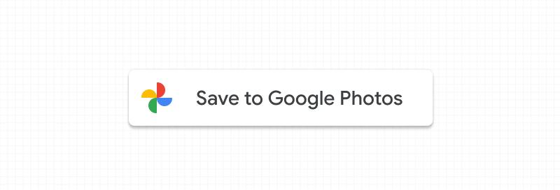 Screenshot of standard Google Photos button