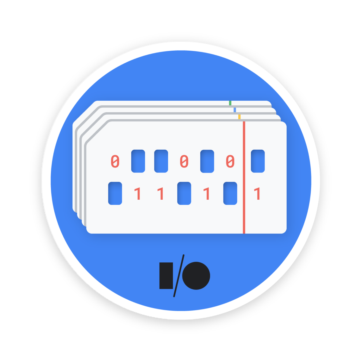 Achievement unlocked! I cracked the punch-card puzzle! Try it yourself. #DevBadges #GoogleIO