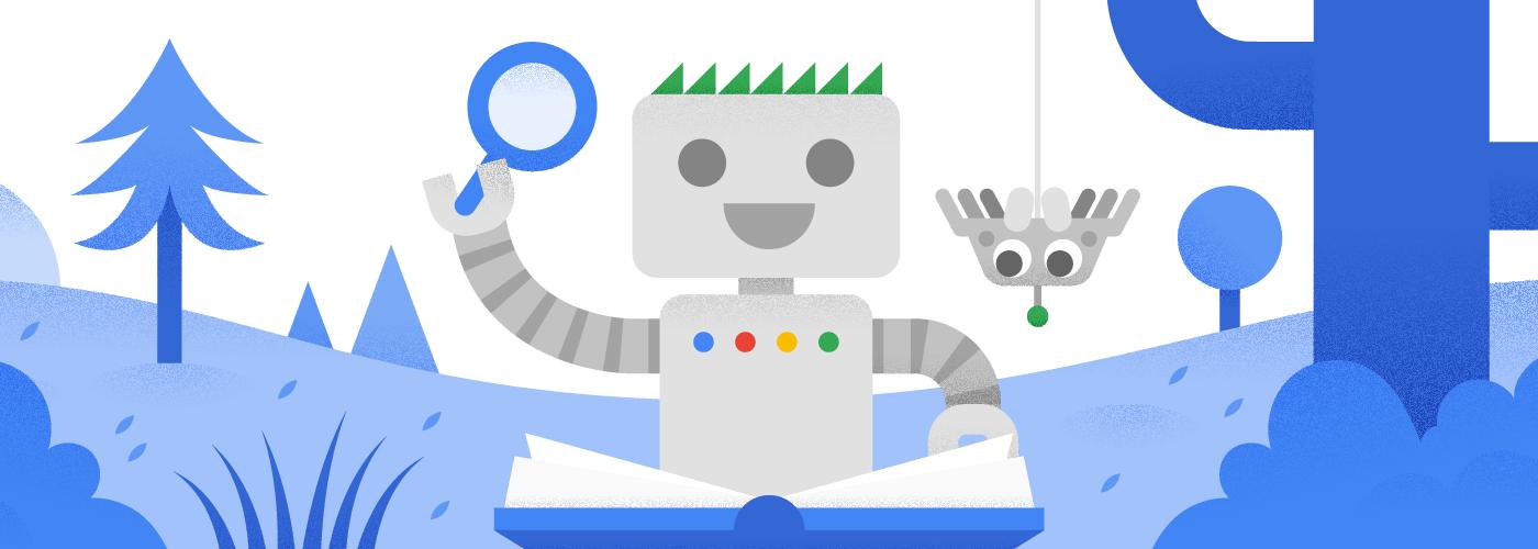 Googlebot đọc sách cùng người bạn nhện mới