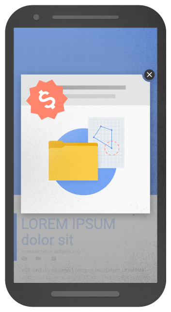mobile optimization - An example of an intrusive popup