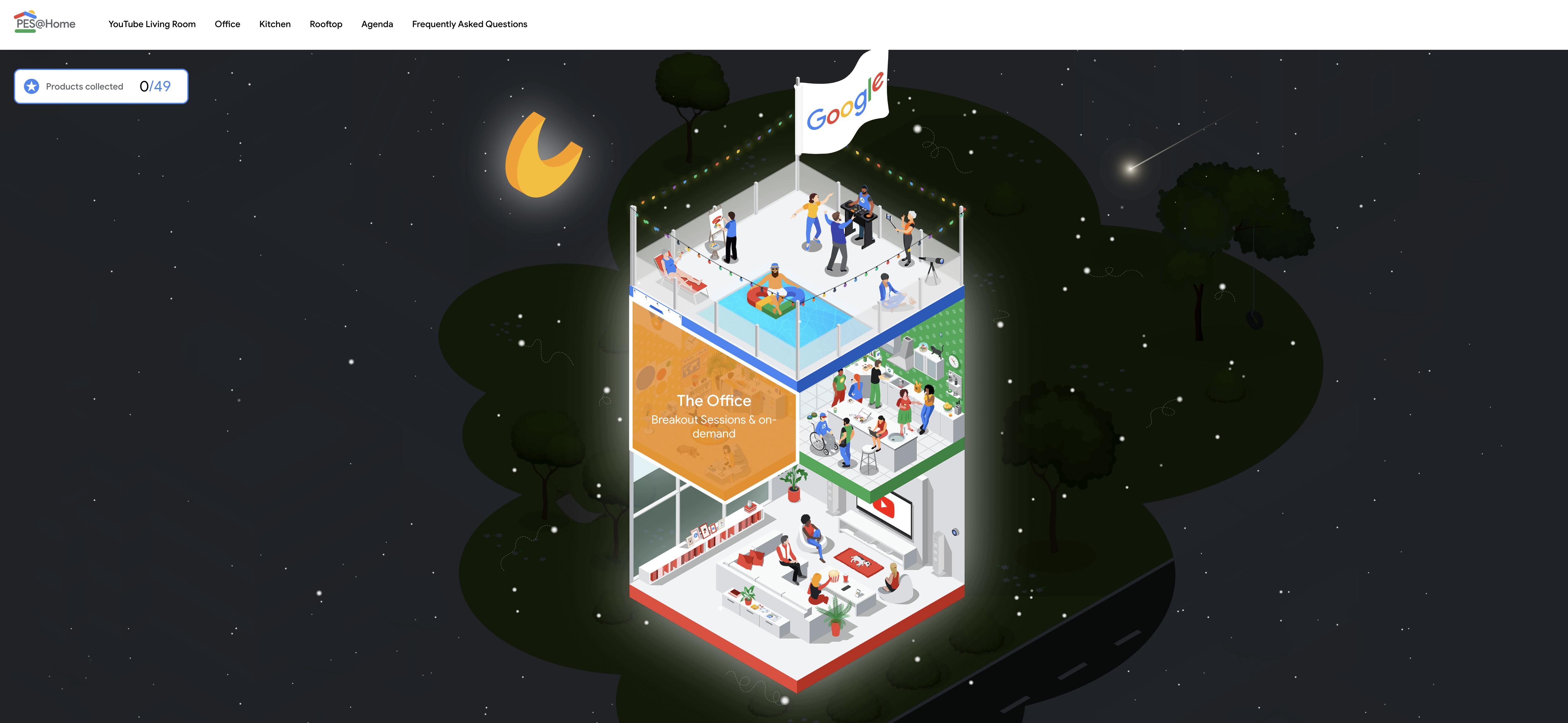 Screenshot of the PES@Home website