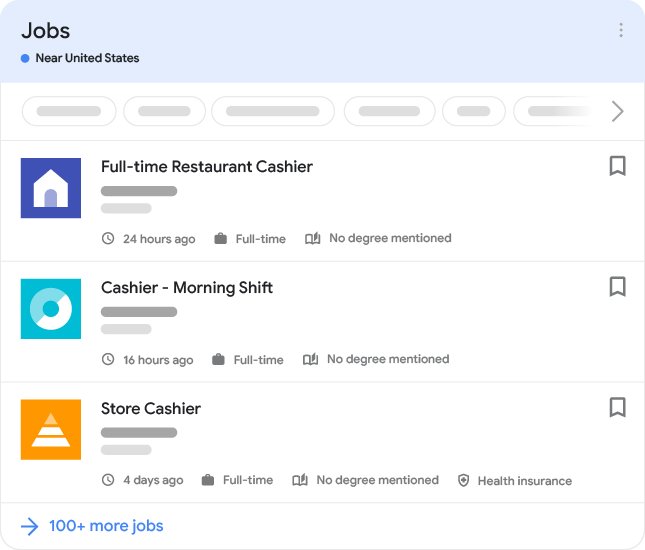 Job posting example in search results