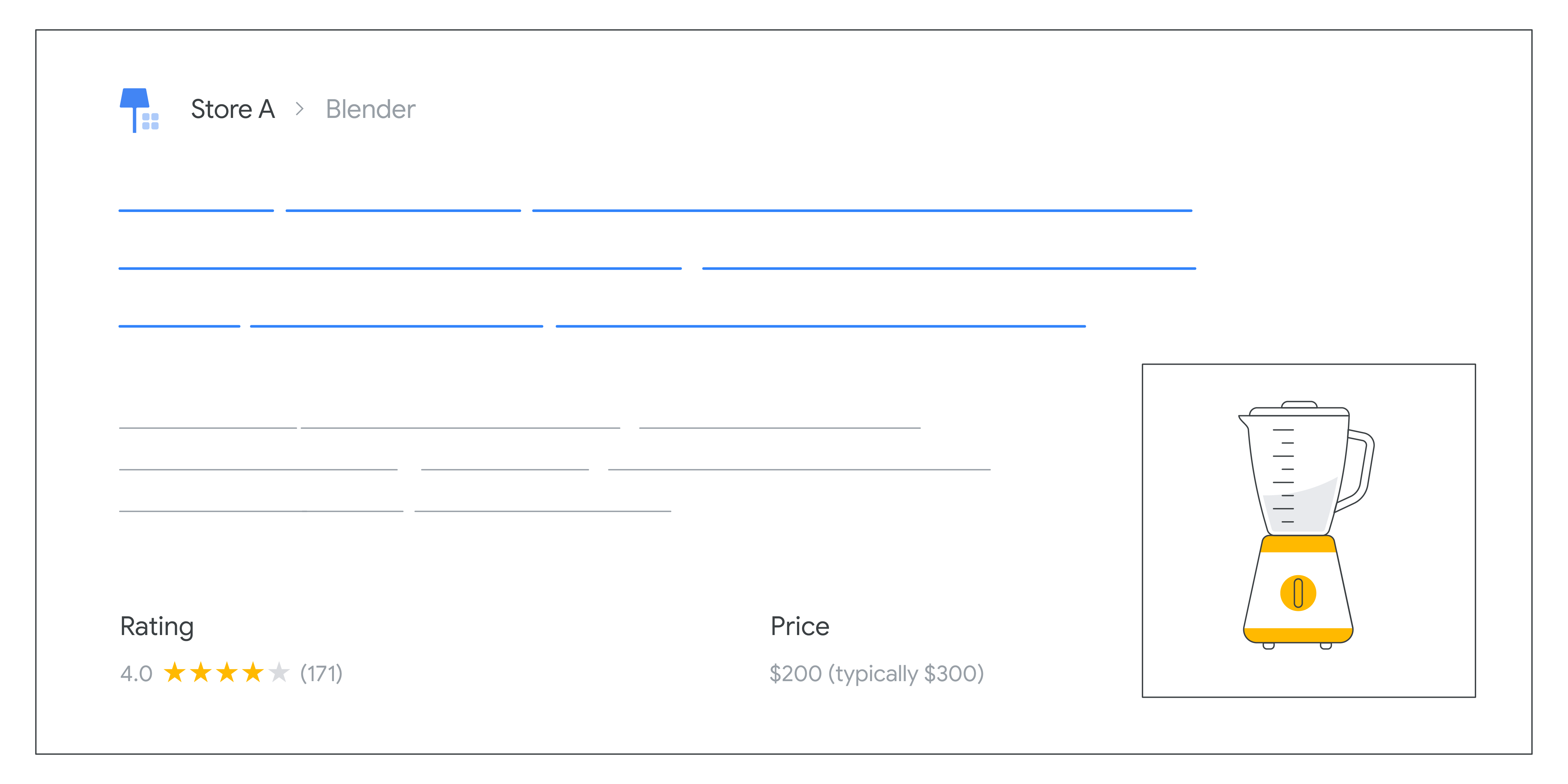 Price drop in search results