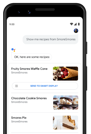 Recipe on the Assistant
