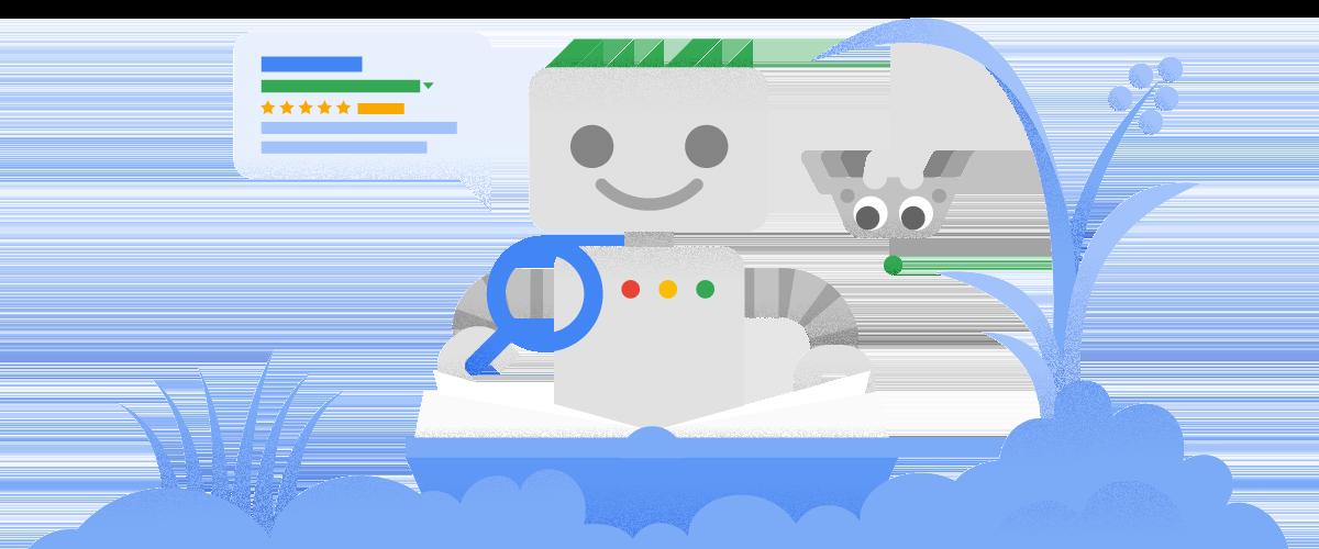 Googlebot and a website.