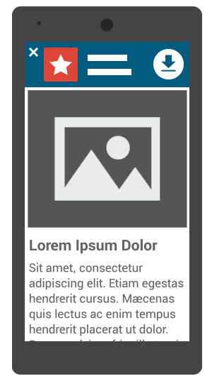 Bannière d'application