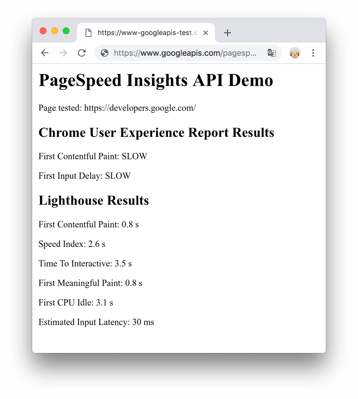 Get Started with the PageSpeed Insights API | PageSpeed