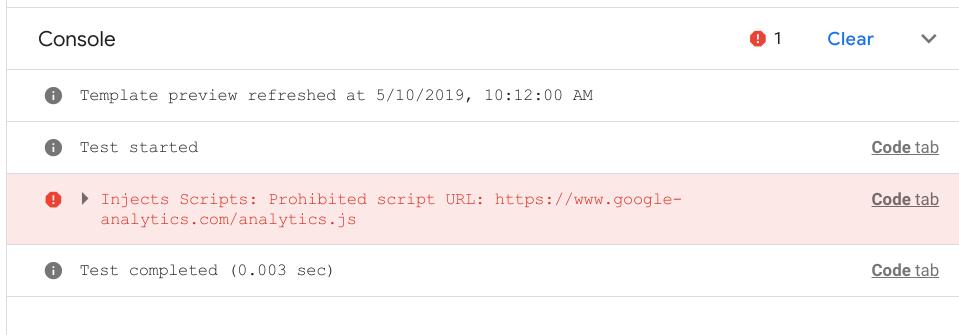 Inject Scripts Console Error