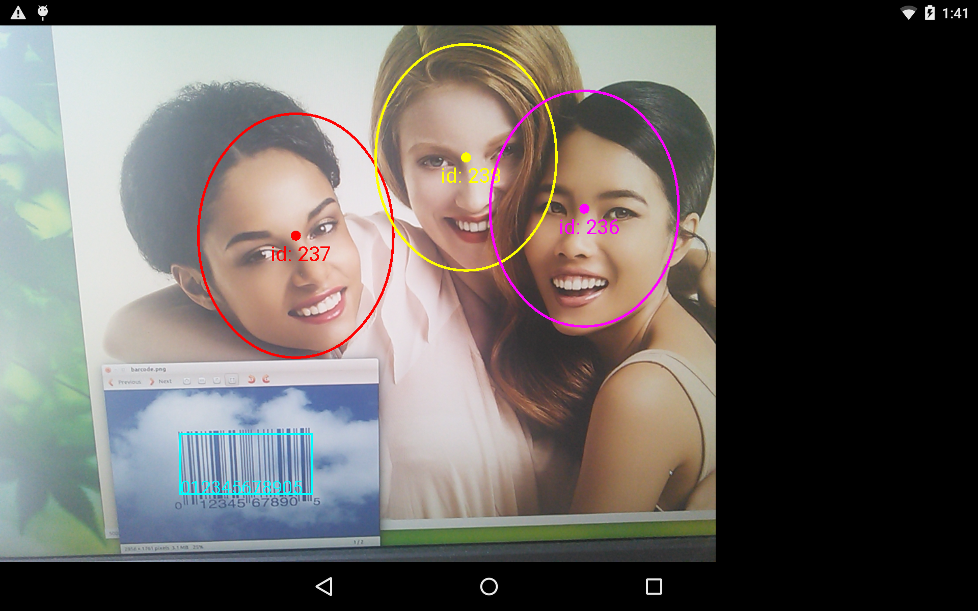 Track Faces and Barcodes | Mobile Vision | Google Developers
