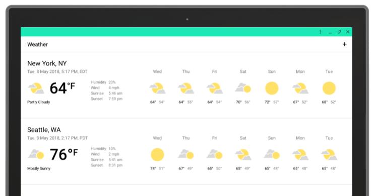 Full screen app window