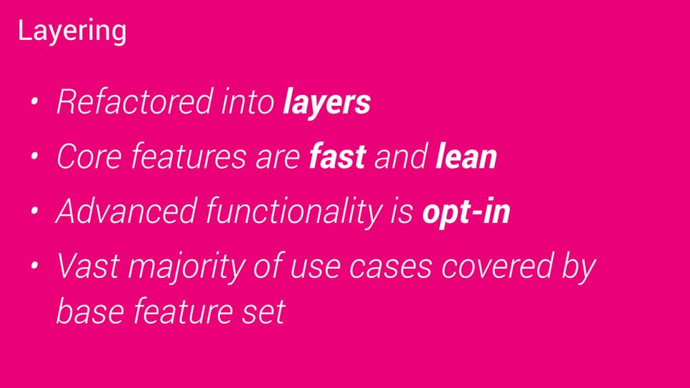 Polymer has been refactored into layers