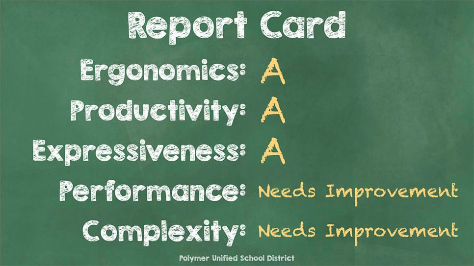 Polymer report card needs improvement