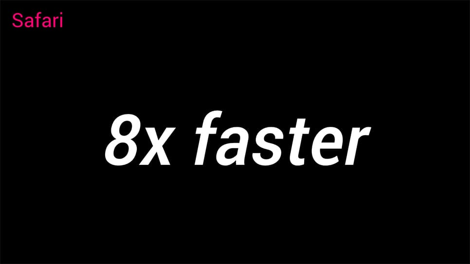 Polymer is now 8x faster in Safari