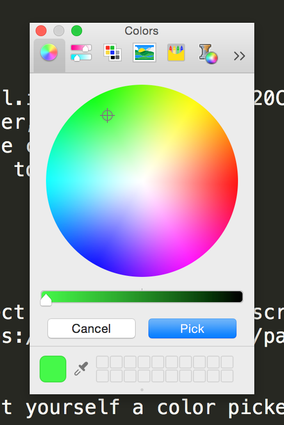 Color Picker Sublime Package Screenshot