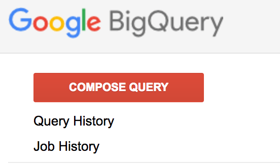 Composing a new query on BigQuery