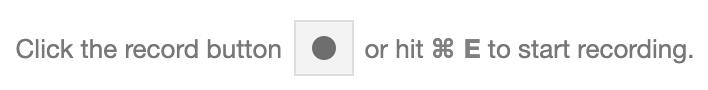 The record button in DevTools