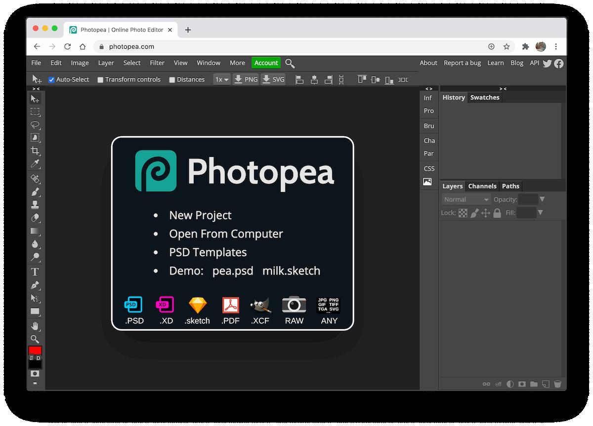 Photopea image editor