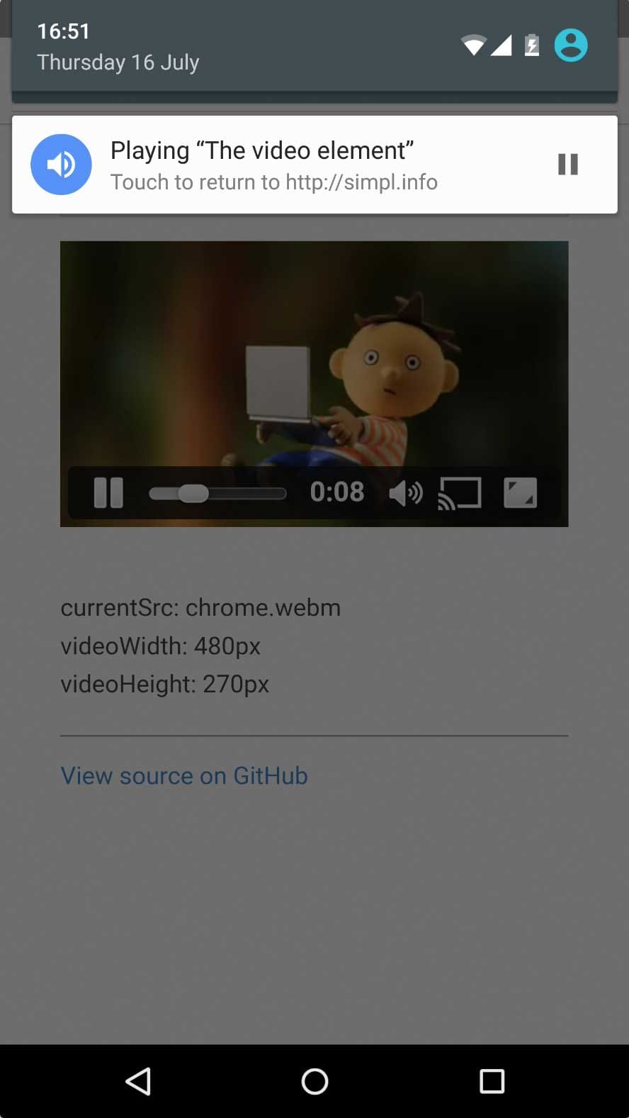 Media playback notifications for Chrome on Android | Web | Google