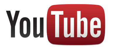 YouTube logo - standard, white background